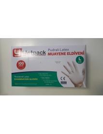 Jednorázové latexové rukavice L 100 ks