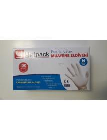 Jednorázové latexové rukavice M 100 ks