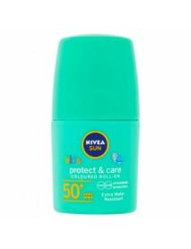 NIVEA Sun Protect & Care Detské farebné mlieko na opaľovanie v guličke SPF 50+ 50 ml