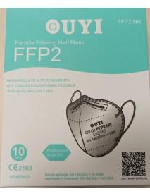 Čierny ochranný respirátor FFP2 UYI 10 kusové balenie