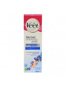 Veet Silk & Fresh depilačný krém na nohy pre citlivú pokožku 100 ml