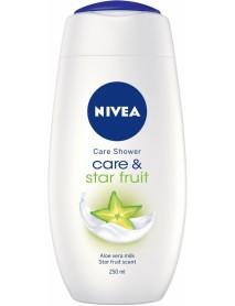 Nivea Care & Star Fruit sprchový gél 250 ml